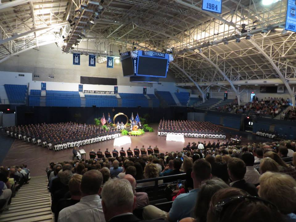 The Class of 2015 ready to receive their rings.