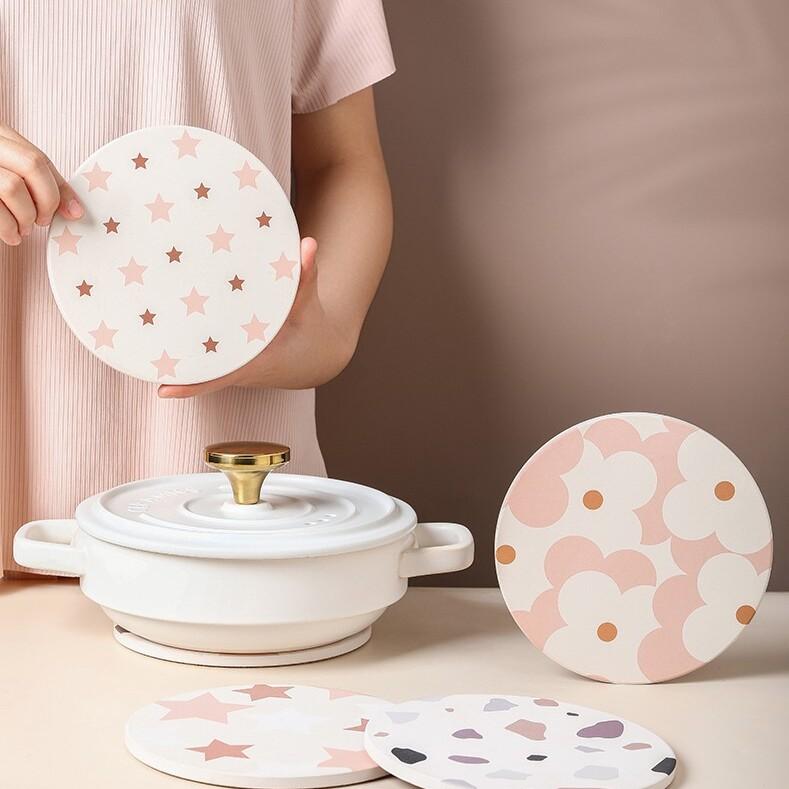 Tutu at home ceramic coaster