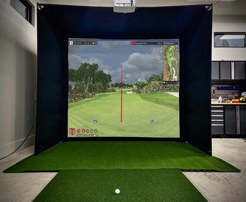 diy golf simulator enclosure