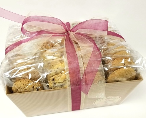 Individually wrapped cookie gift baskets