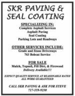 SKR Paving & Seal Coating