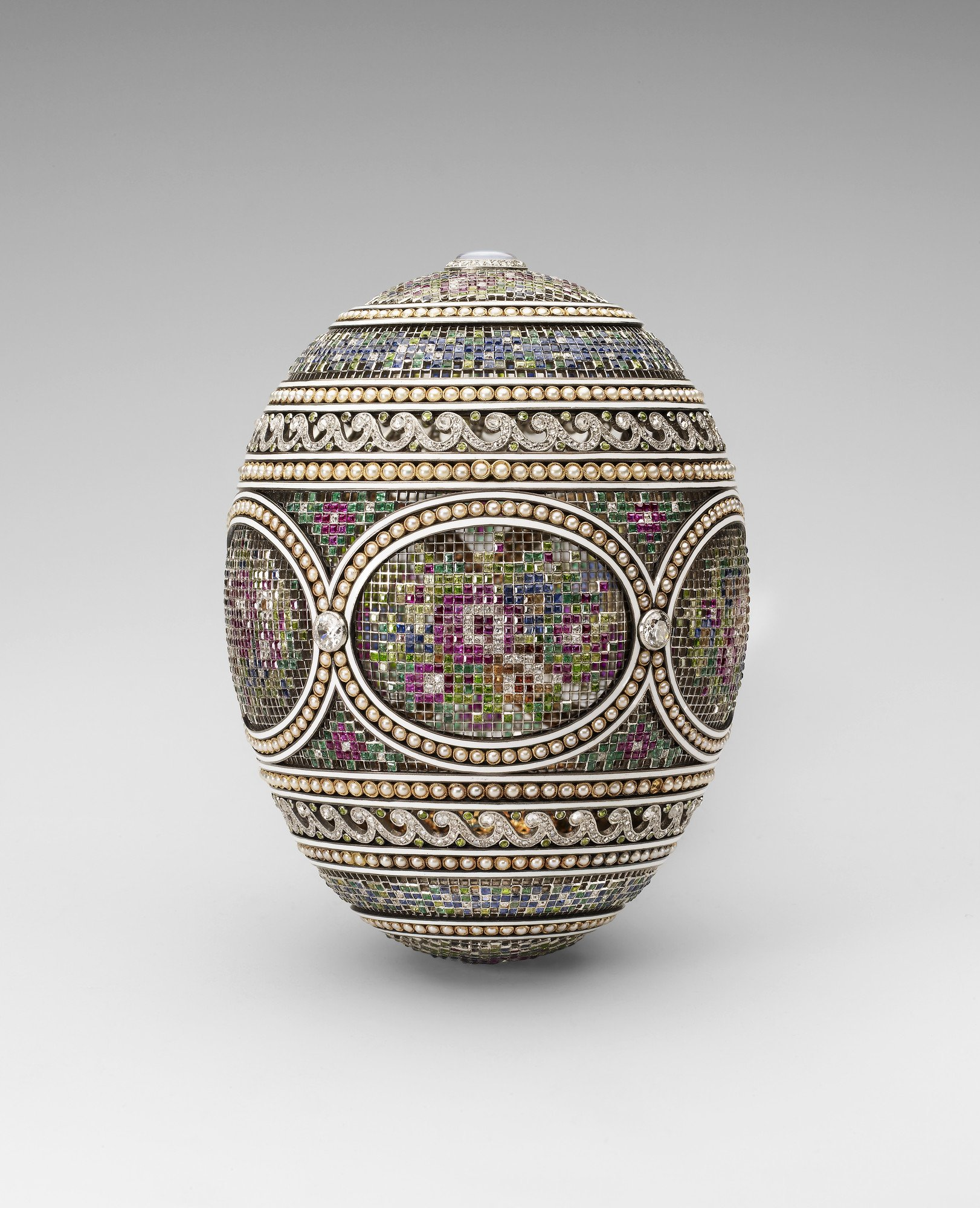 Faberge Mosaic Egg with Surprise Royal Collection Trust