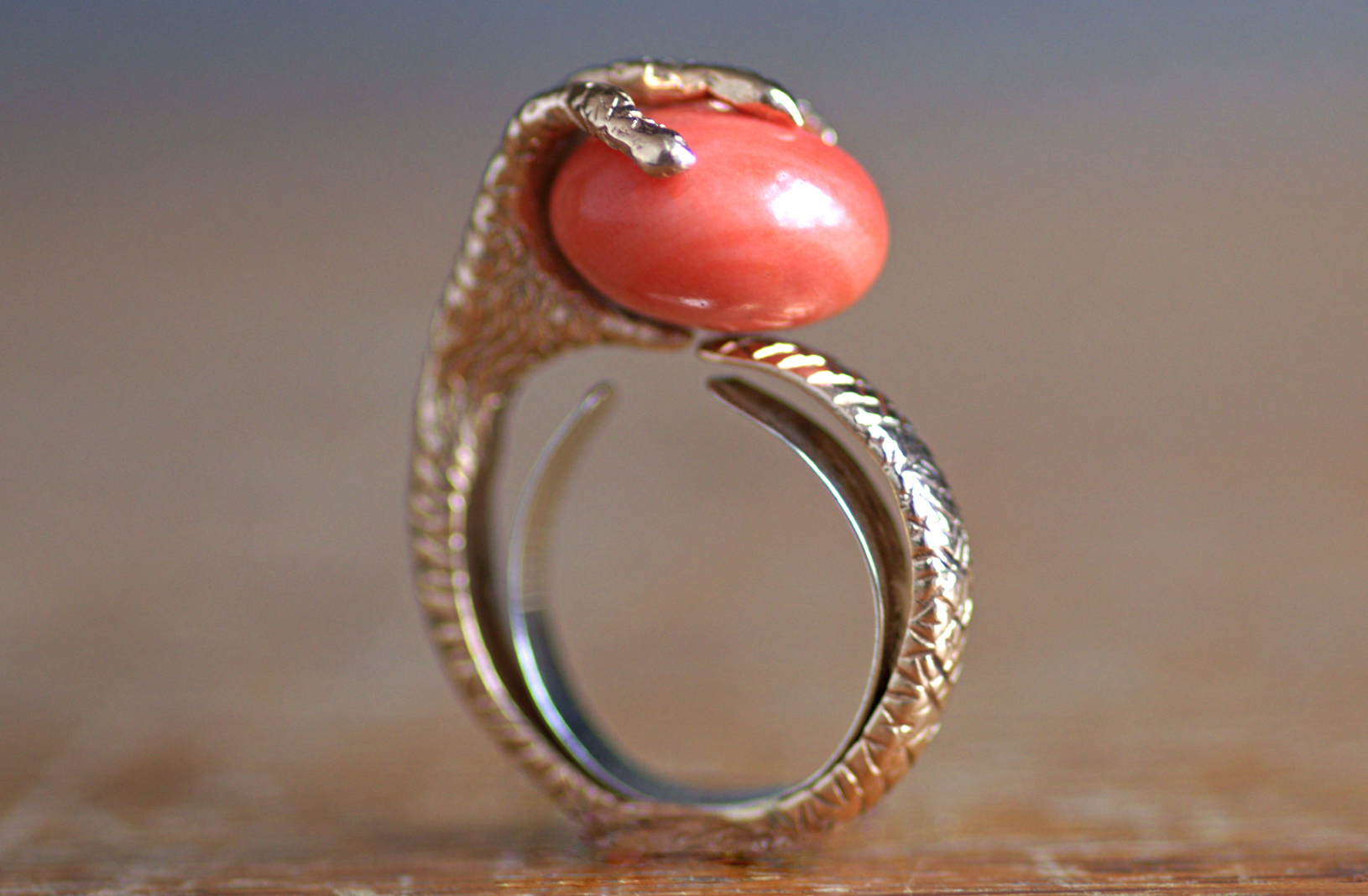 Coral Ring Vertical Side