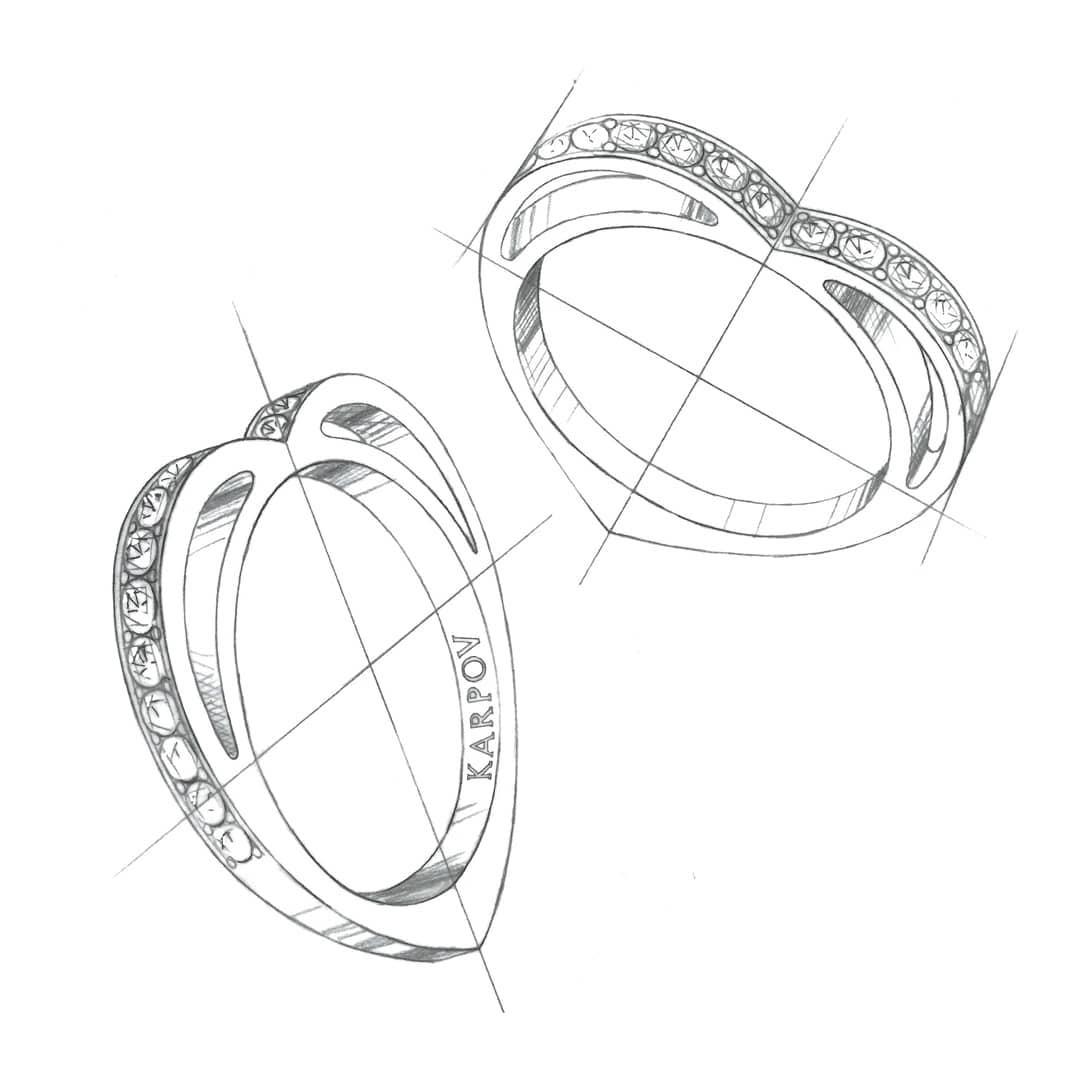 Karpov Paris sketch of ring