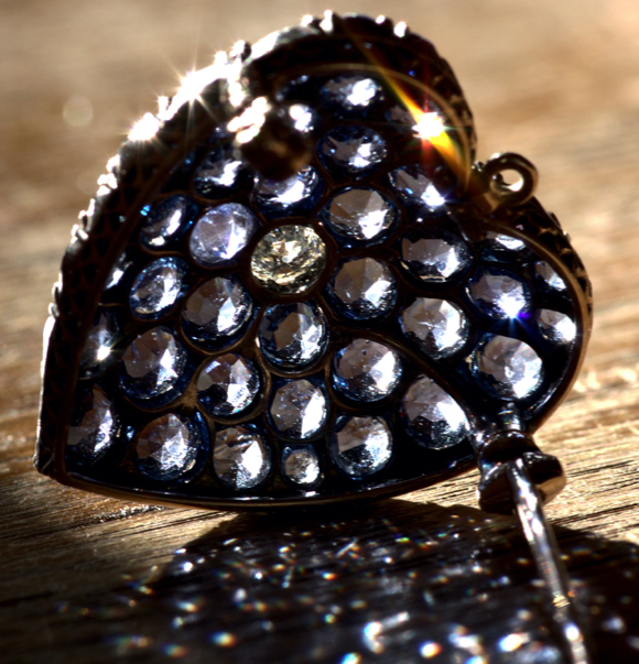 Victorian Sapphire Brooch Pendant Back