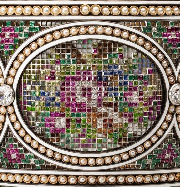 Faberge Mosaic Egg Close Up Detail
