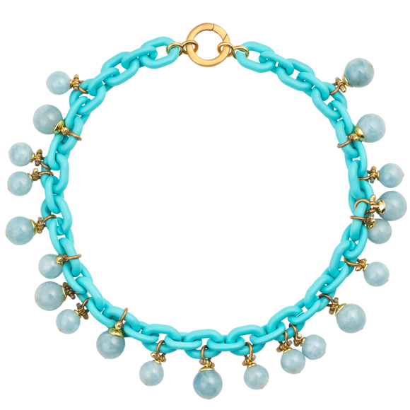 Plastic Fantastic Collection Turquoise Resin Chain necklace