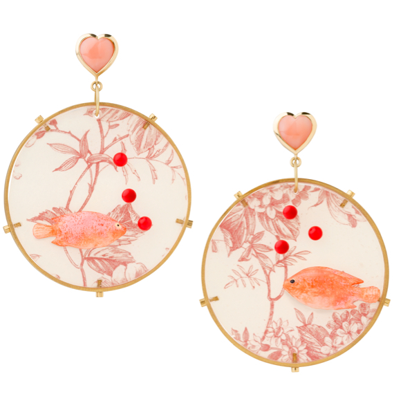 Plastic Fantastic Collection Fish Lucite Riviera Earrings