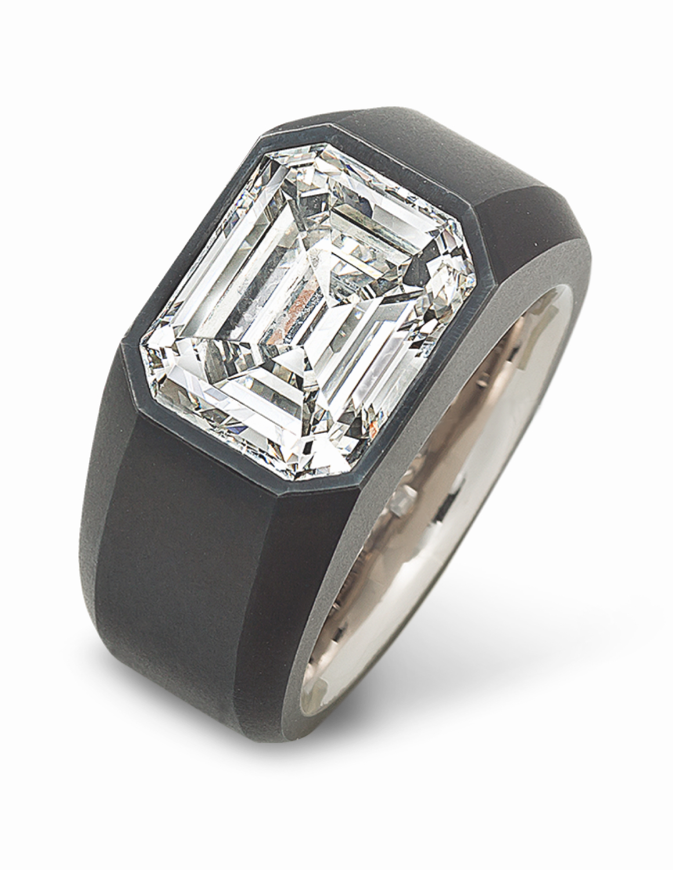 hemmerle iron white gold ring diamond
