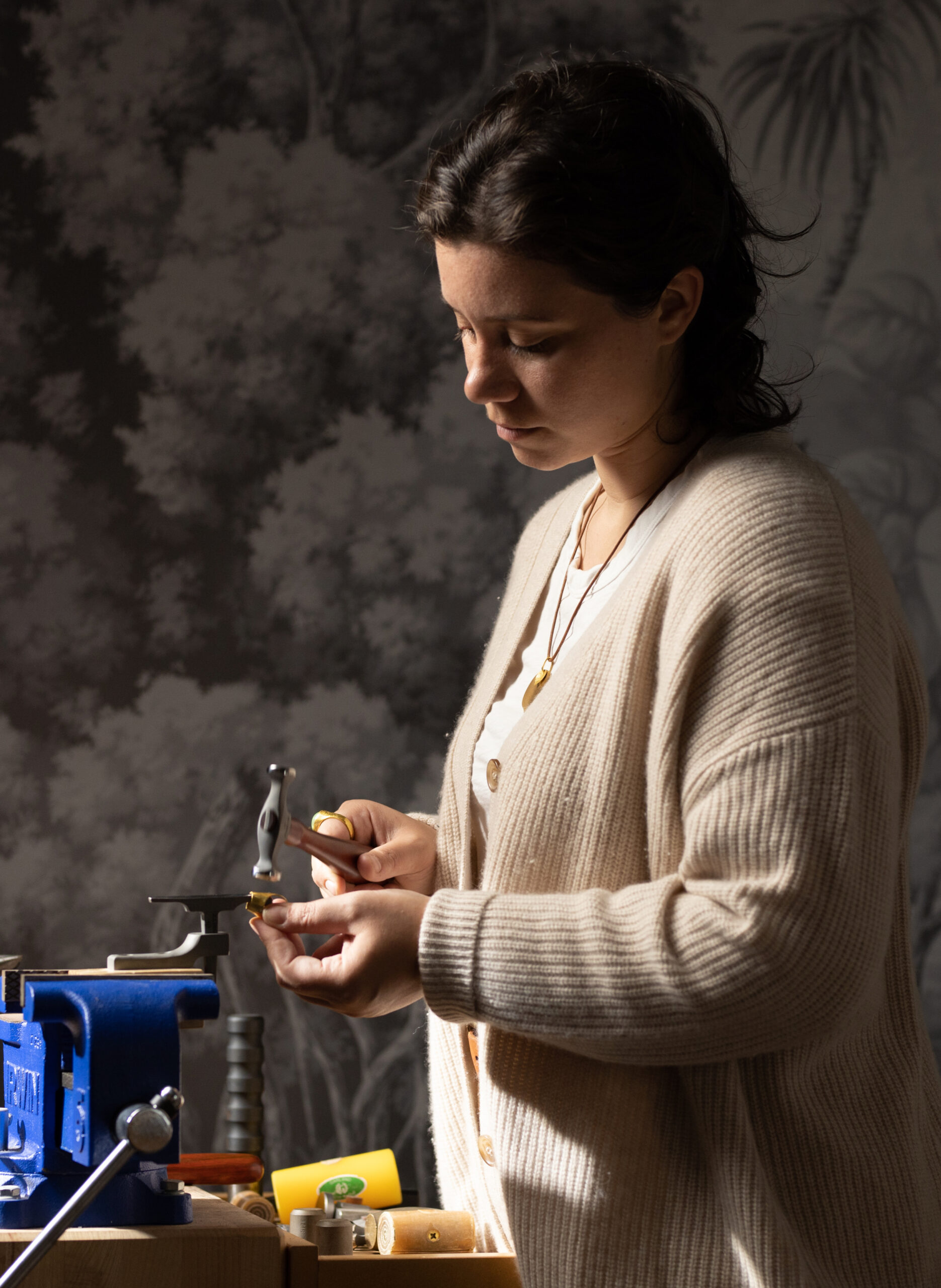 Loren Nicole at Work Bench creating handmade jewellery