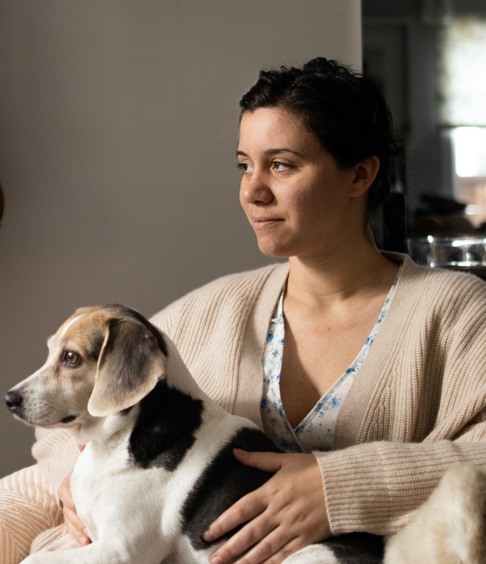 Loren Nicole with Dog