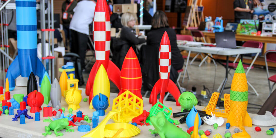 3D printed rockets by Marc-André Léger