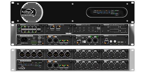 AuviTran Audio ToolBox AVBx3 and AVBx7 Matrix Processors and AVB to Dante converters