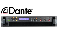 44M10 4x2500W DSP Amplifier with Dante