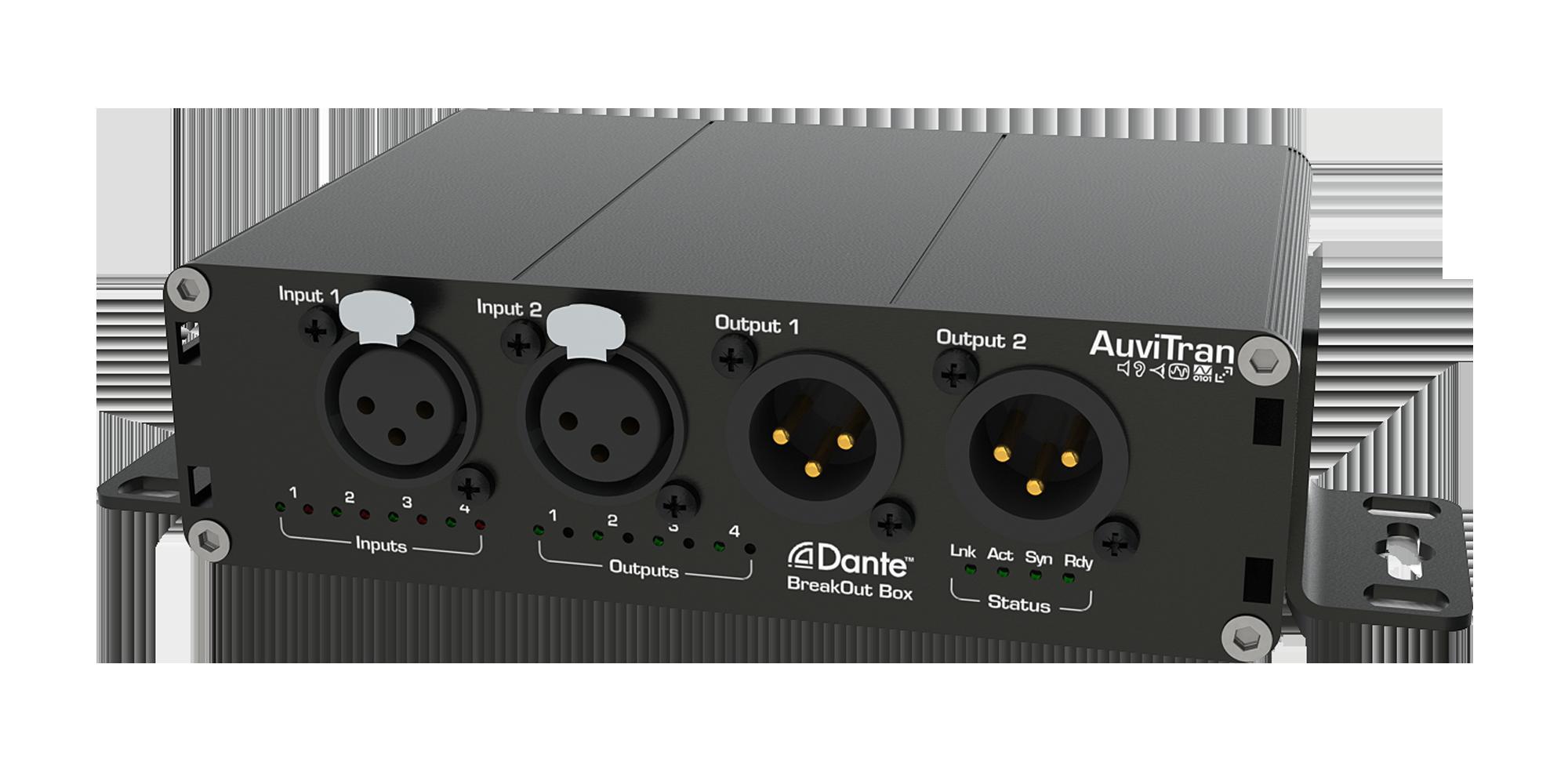 AuviTran AVDT-BOB Dante BreakOutBox Model ADX8iO