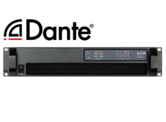44C06 4x1500W DSP Amplifier with Dante