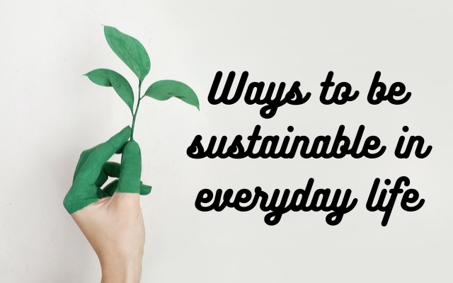 Ways to be sustainable in everyday life