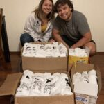 A weekend's work of packing hygiene kits for Simply the Basics