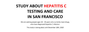 Hep C testing and care study