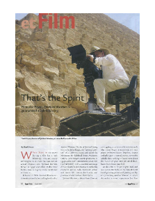 Press, Cairo Intl Film Festival, Egypt Today Article_page1, Dec07