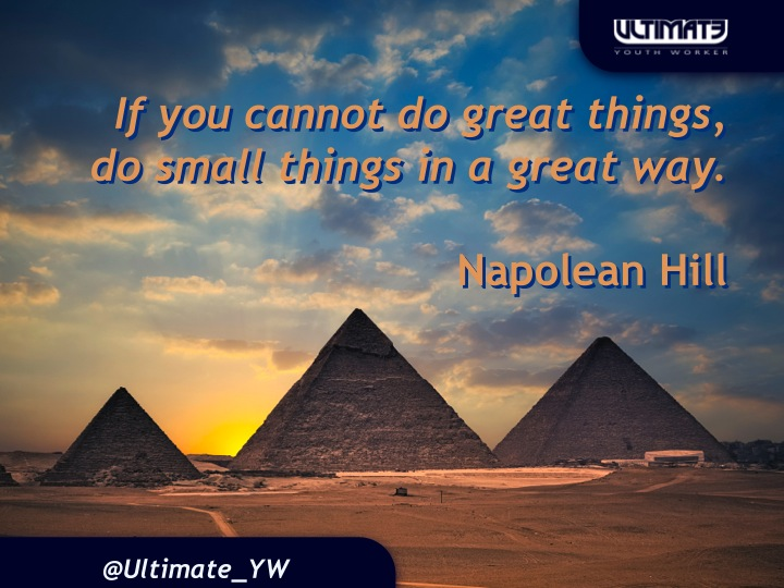Even if they are small things