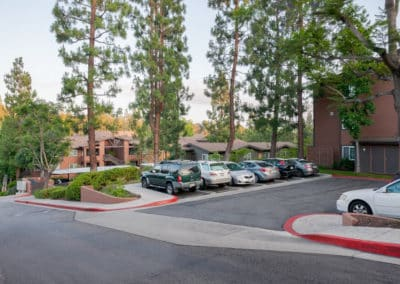 Parking lot at Crestwood Apartment Homes
