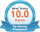 The picture that Traci Hinden Avva Rating 10.0 Superb Top Attorney Employment