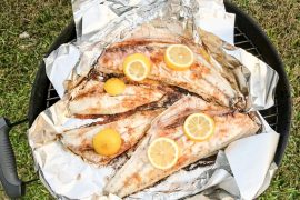 Florida Boy Adventures - Redfish on the Half Shell Grilled