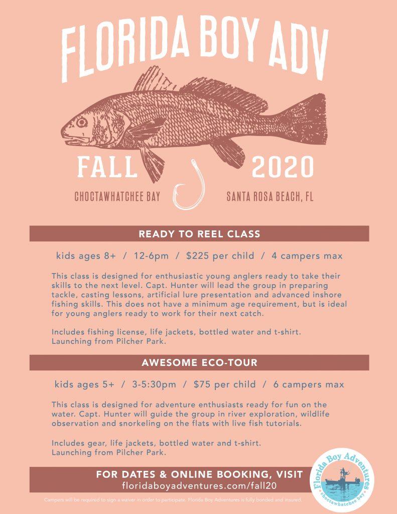 Florida Boy Adventures Fall Classes - 30A Santa Rosa Beach Fishing