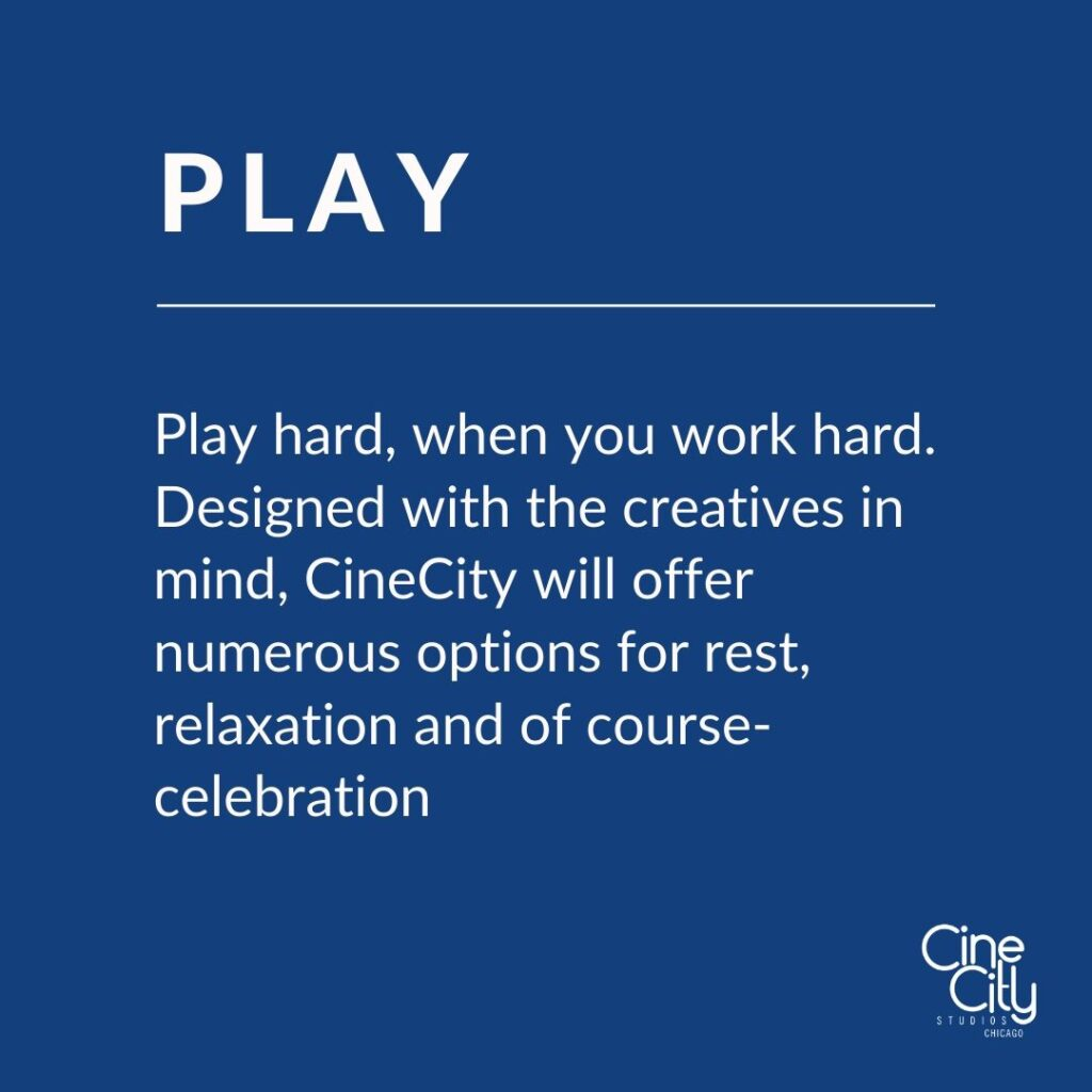 Play hard, when you work hard. Designed with the creatives in mind, CineCity will offer numerous options for rest, relaxation and of course- celebration
