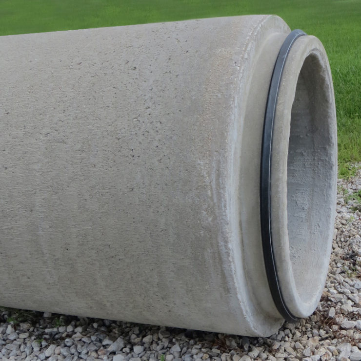 4G pipe gasket on concrete pipe