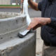 Pro Stik applied to concrete joint