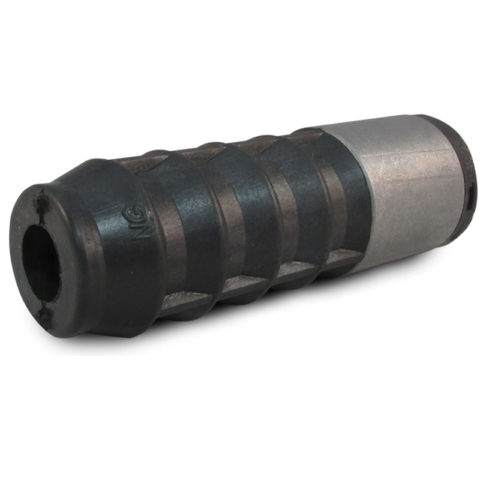 Nylon insert with steel sleeve