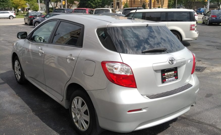 2013 Toyota Matrix – One Owner, Low KM's,  Clean Car