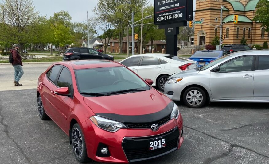 2015 TOYOTA COROLLA S – LOADED – Very Clean