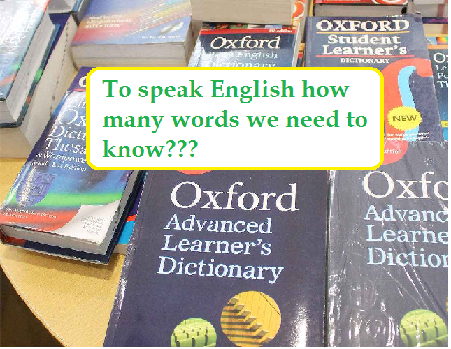 To speak English how many words we need to know.