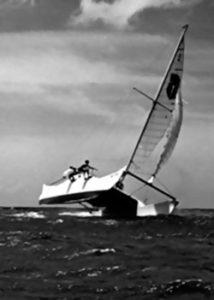 Woody Brown sailing his boat