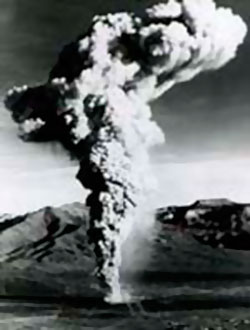 """Nuclear Weapons Testing """"Baneberry"""" venting of an underground nuclear test, Nevada Test Site"""