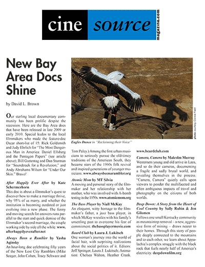 Cine Source Bay Area Docs Shine , by David L. Brown