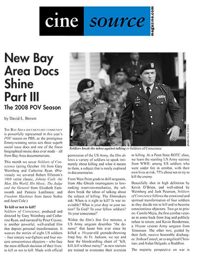 Cine Source Bay Area Docs Shine 3, by David L. Brown