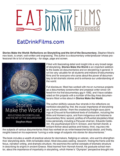 Eat Drink Films, by David L. Brown