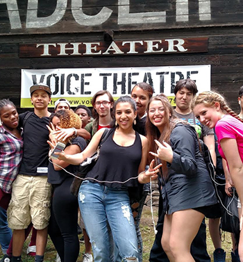 Kingston High School students after the final Anti-Bullying Workshop and student performance of End Days at the Byrdcliffe Theater.
