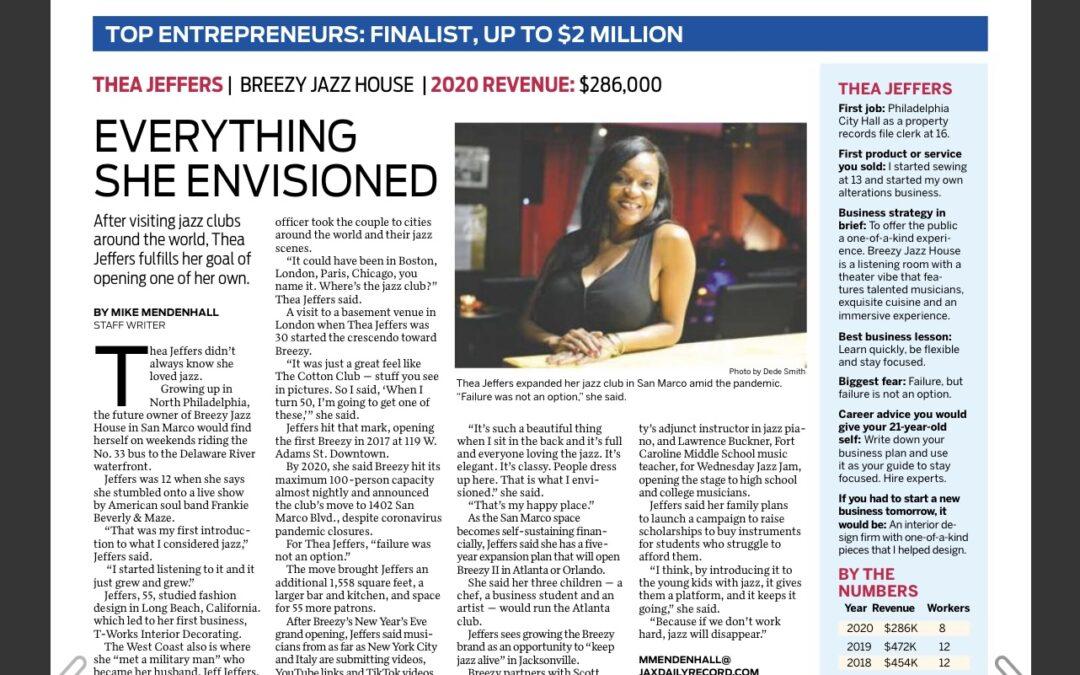 Jacksonville Daily Record's Top Entrepreneurs