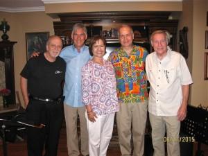 Ron Eschete, Luther Hughes, Becky Hughes, Glenn Cashman, with CalJAS President Dale Boatman