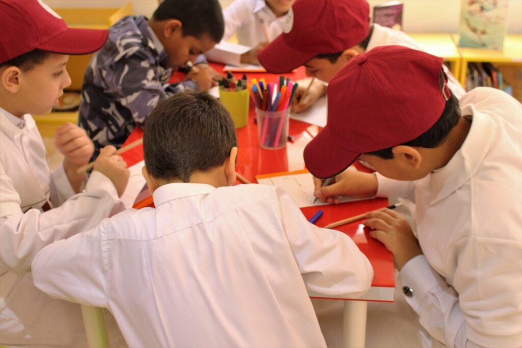 Boys Independent School visits Maktaba