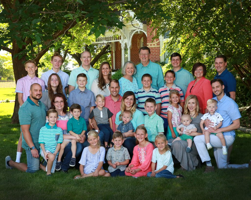 large family group photography utah