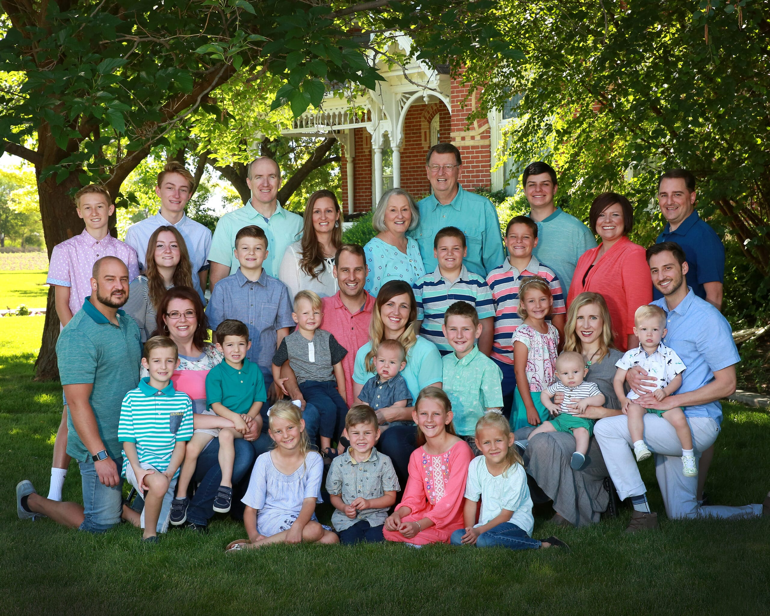 large family group photography utah