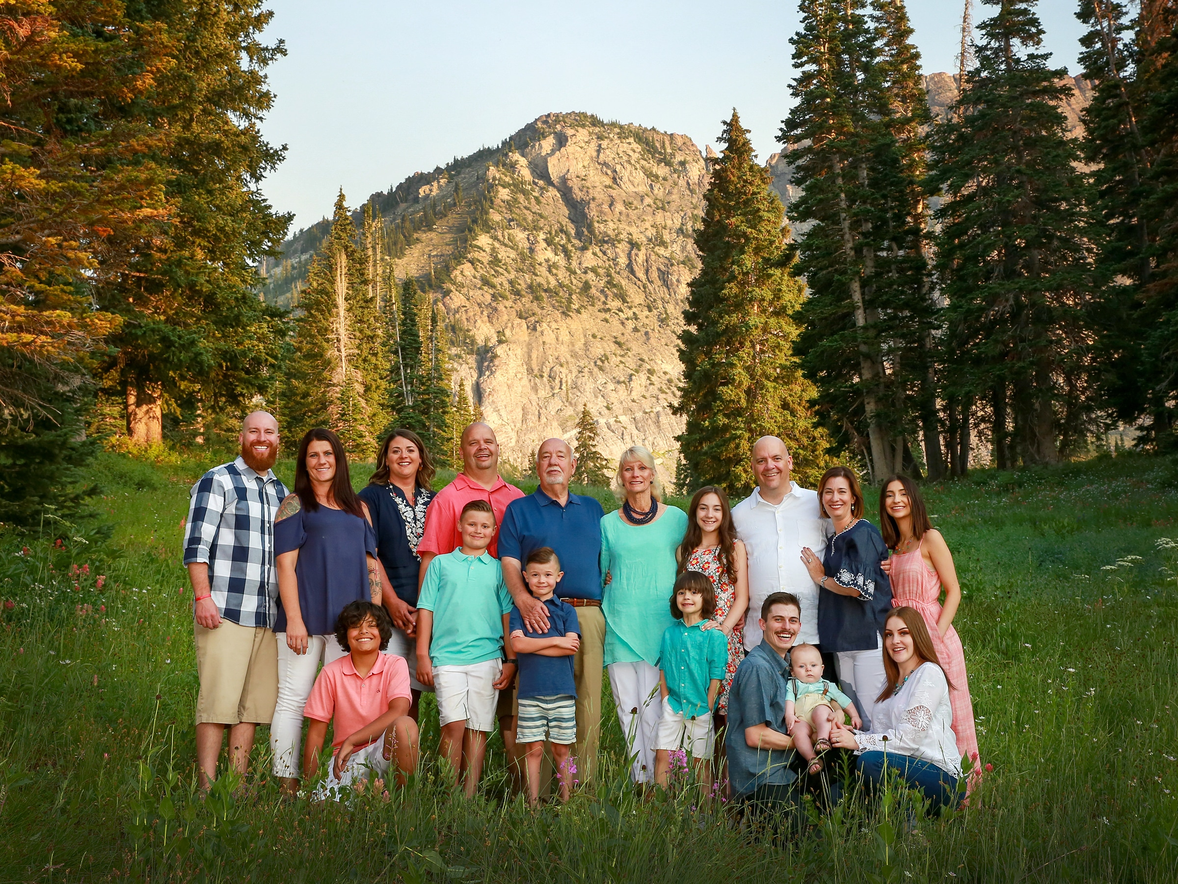 large group photography layton utah
