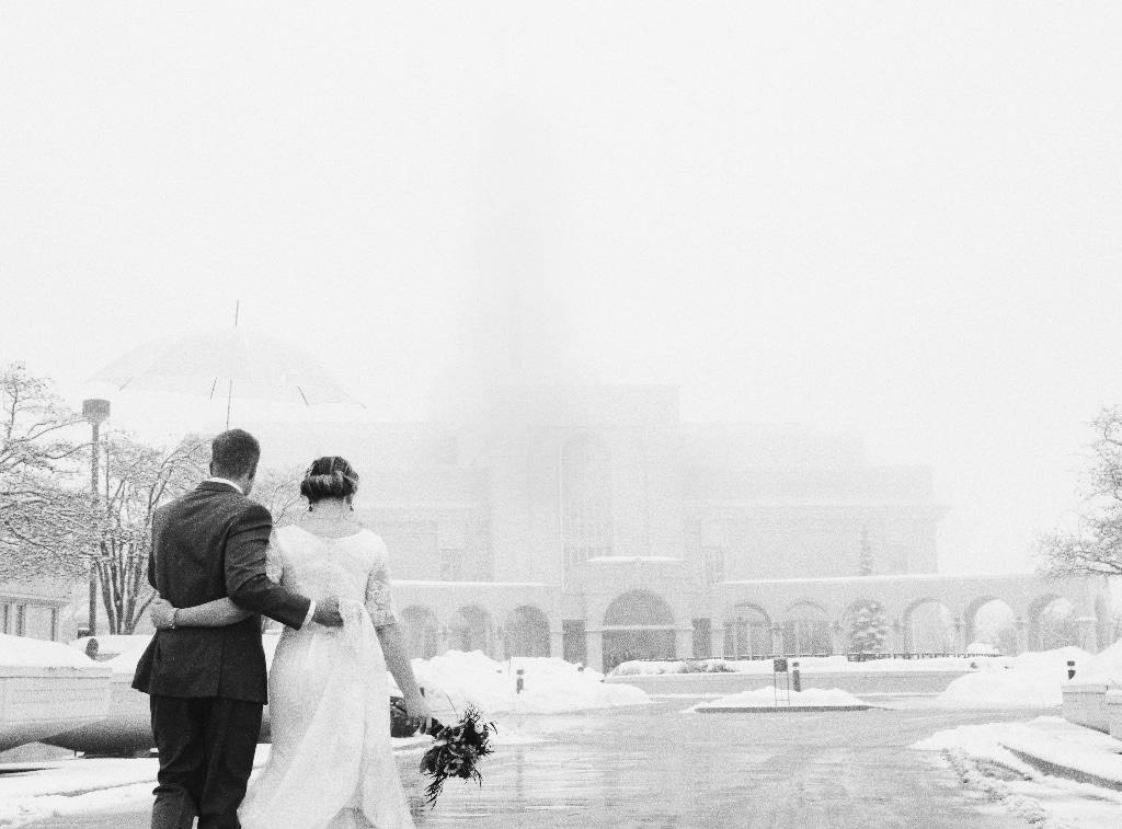 winter wedding landscape