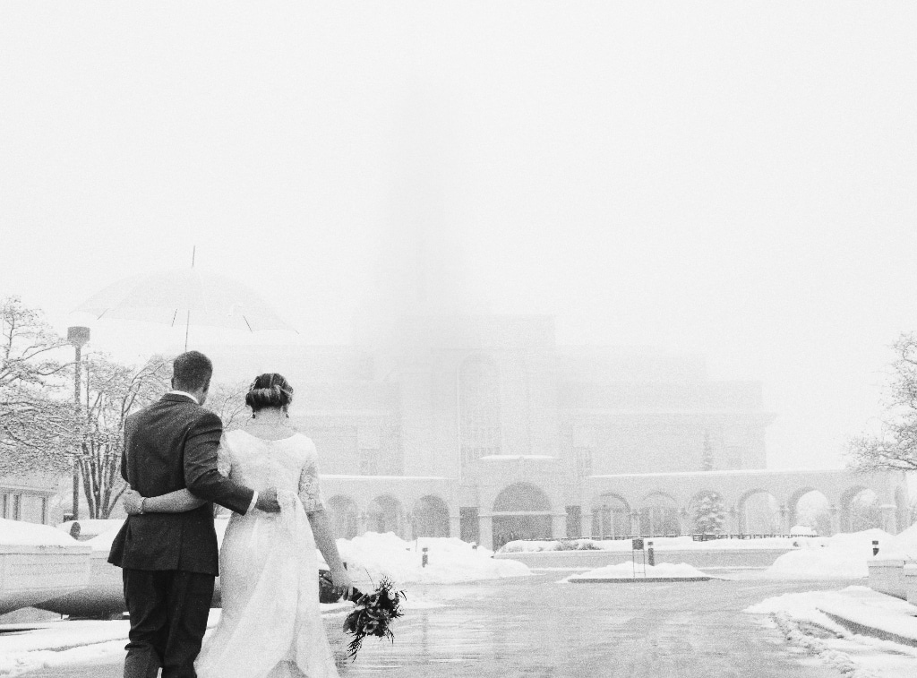 winter wedding landscape